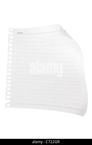 Papier blanc Banque D'Images