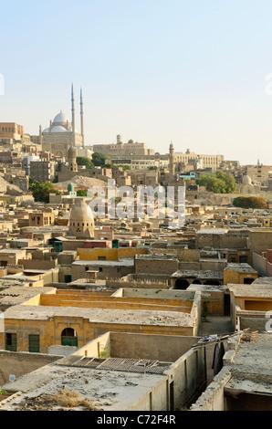 Vue sur la vieille ville du Caire en Egypte Banque D'Images
