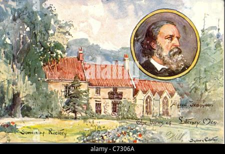 Photo Carte postale par artiste Sydney Carter d'Alfred Tennyson dans les maisons de la série d'Œuvres littéraires Hommes
