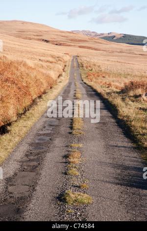 La seule piste road Isle of Jura, Scotland, UK LA005503 Banque D'Images