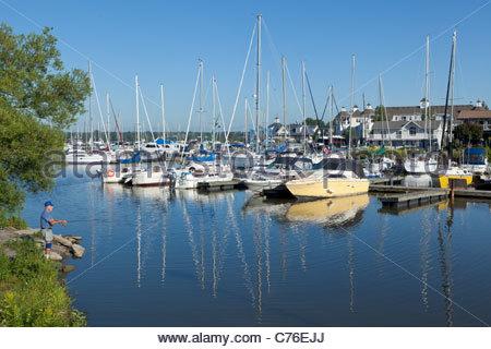 Village nautique des Grands Lacs appartements en copropriété un exemple de nouvel urbanisme à Frenchman's Bay, à Pickering, Ontario Canada