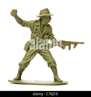Vintage des années 60, le plastique toy soldier Lancer grenade Banque D'Images