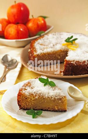 Apple et une tarte au citron. Recette disponible. Banque D'Images