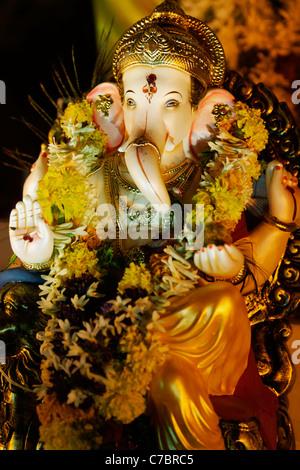 Dieu Ganesha à Ganesh Festival, Inde. Banque D'Images