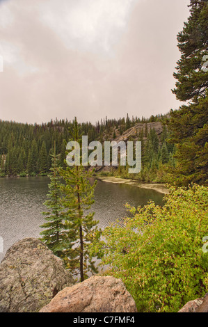 Lac de l'ours, Rocky Mountain National Park, Colorado Banque D'Images