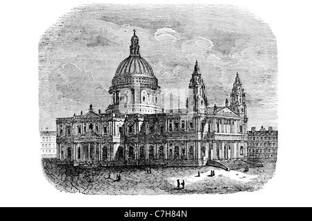 La Cathédrale de St Paul, Église d'Angleterre architecture religion Paul Apôtre Ludgate Hill City Londres évêque Banque D'Images
