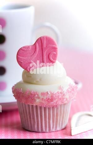 Amour de Cupcake Banque D'Images