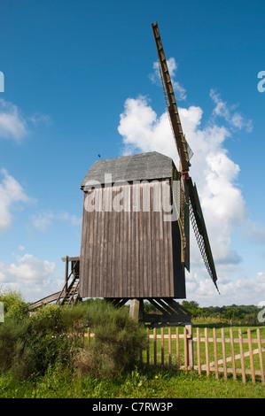 Publiez moulin de Pudagla, Usedom Island, mer Baltique, Mecklenburg-Vorpommern, Allemagne, Europe