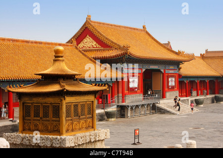La Chine, Beijing, la Cité interdite à l'Imperial Palace