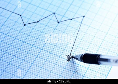 Dessin plume un profit graphique. Shallow DOF! Banque D'Images