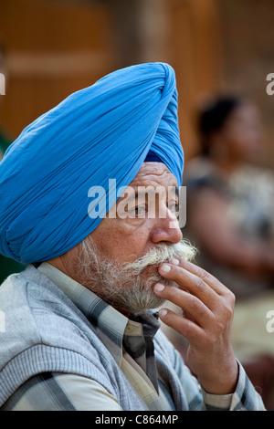 Homme sikh à New Delhi, Inde Banque D'Images