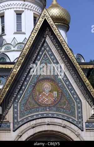 L'église Russe Nikolai ST.31 août 2011 SOFIA BULGARIE Banque D'Images