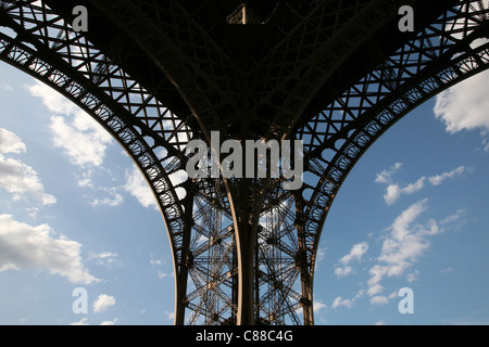 La Tour Eiffel à Paris, France.