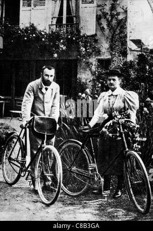 Marie Curie avec mari Banque D'Images