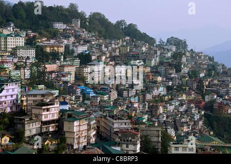 Vue panoramique sur l'Inde Sikkim Gangtok Banque D'Images