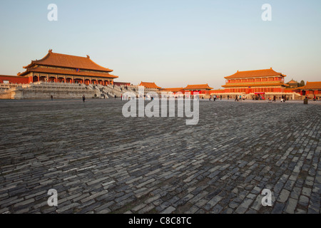 La Chine, Beijing, ou du musée du palais de la Cité Interdite Banque D'Images