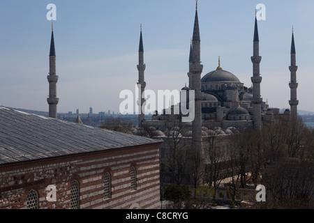 Mosquée bleue - Istanbul, Turquie. Banque D'Images