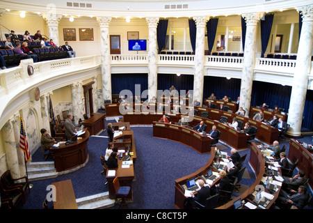 Chambre des représentants de l'Idaho en session à l'Idaho State Capitol building situé à Boise, Idaho, USA.