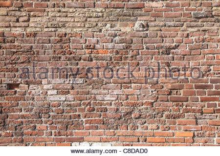 Résumé fond avec de vieux mur de briques. Banque D'Images