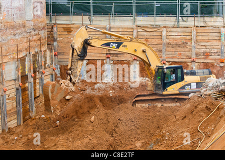Nouveau bâtiment, construction 14e et R Street NW, Washington DC Banque D'Images