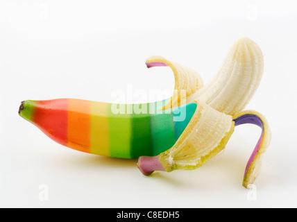 Banane multicolore Banque D'Images