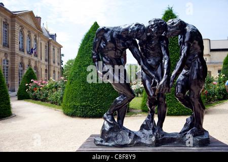 Les trois ombres (les trois nuances, 1902-1904, sculpture en bronze, porte de l'Enfer, dans le jardin d'Auguste Banque D'Images
