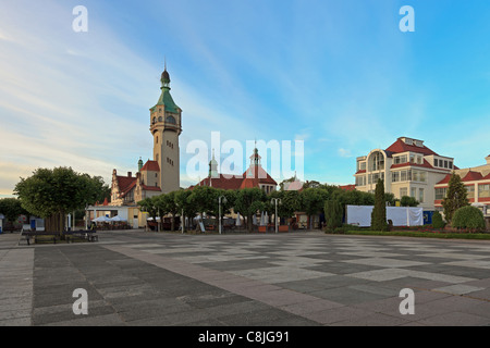Ancien phare à Sopot, Pologne.