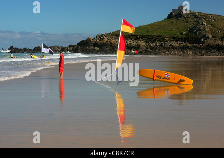 Porthmeor Beach, St Ives, Cornwall, UK Banque D'Images