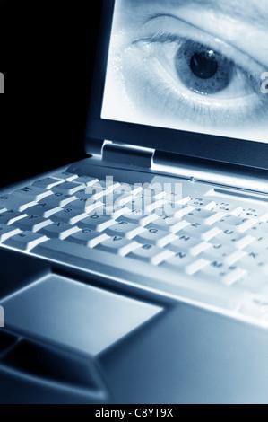 Le piratage informatique Banque D'Images