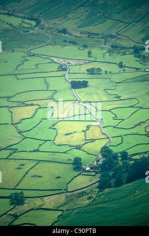Il y a une vue spectaculaire sur la vallée de Wasdale dans l'ouest de Parc National de Lake District en Cumbrie Banque D'Images