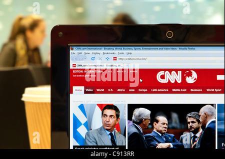 Le site web de CNN tourné dans un environnement (usage éditorial uniquement: -Print, télévision, e-book et le comité éditorial du site).