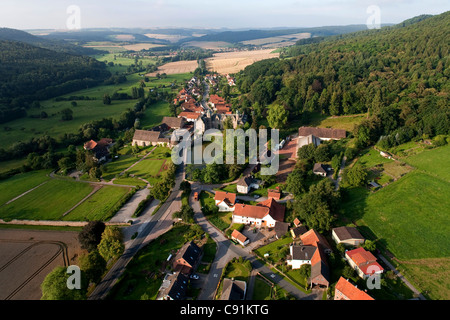 Vue aérienne du château en Haemelschenburg Emmerthal, Hamelin-pyrmont, Basse-Saxe, Allemagne