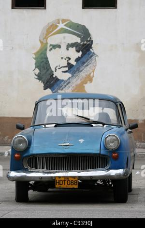 Basé sur le graffiti célèbre photographie de Ernesto Che Guevara par Alberto Korda à La Havane, Cuba.
