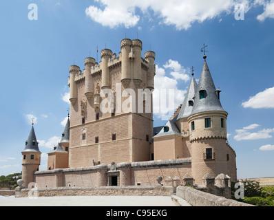 Le château ' ' Alcazar.Segovia, Espagne. Banque D'Images