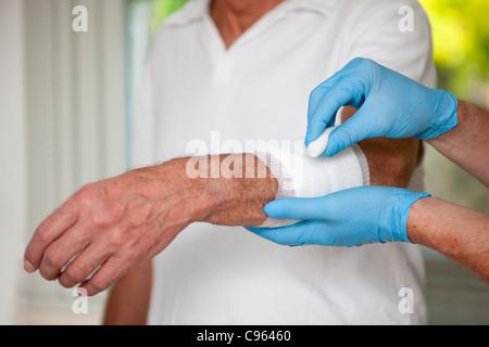 Wound care. Banque D'Images