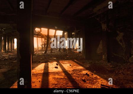 L'industrie lourde ruines à Copsa Mica,Roumanie.L'endroit était connu en 1990 comme l'une des plus polluées ville Banque D'Images