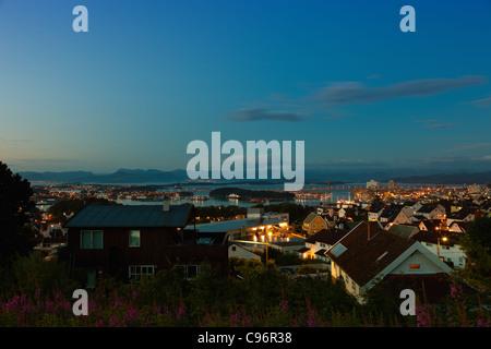 Skyline ville de Stavanger, Norvège. Banque D'Images