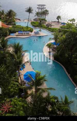 Curaçao Antilles Néerlandaises Dutch Piscadera Bay Resort Hotel Hilton Curaçao chaîne entreprise mondiale de la Banque D'Images