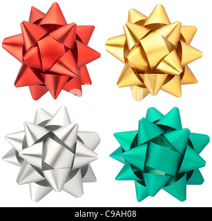 Christmas bow collection isolated Banque D'Images