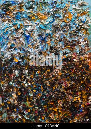 Les structures de la peinture abstraite Banque D'Images