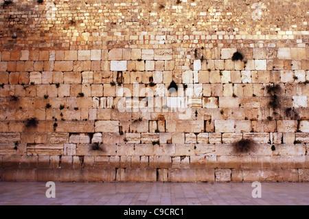 Le mur des lamentations est vide dans la vieille ville de Jérusalem, Israël Banque D'Images