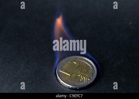7 décembre 2011 Athènes Grèce. Crise de la zone euro Banque D'Images
