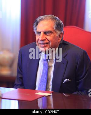 Peut16,2012 - Mumbai, Inde: Portrait de l'industriel indien Tata Rata, président de l'empire Tata de la Bombay Banque D'Images