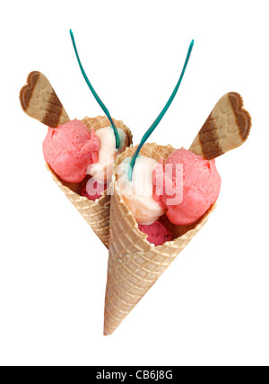 Cornets de crème glacée Banque D'Images