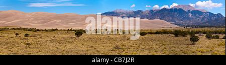 Panorama de Great Sand Dunes National Park en Californie. Ce sont les plus hautes dunes de sable en Amérique du Nord.