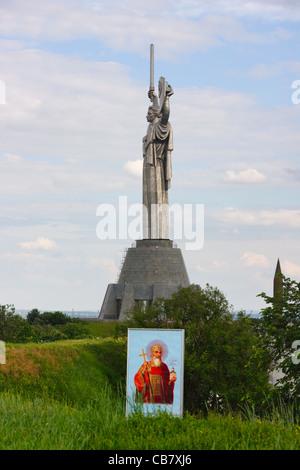 Rodina Mat, Nations Unies Mère Défense de la patrie monument (la Dame de fer), Musée de la Grande guerre patriotique, Banque D'Images