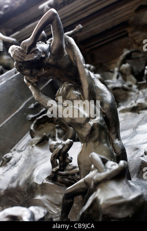 Les portes de l'enfer Musée Rodin Paris France Banque D'Images