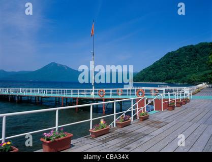 Shikotsu Lake, Chitose, Hokkaido, Japon Banque D'Images