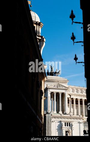 """""""Monument"""" le monument national, sur la Piazza Venezia, dans le centre historique de Rome, Italie Banque D'Images"""
