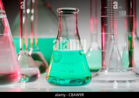 Verrerie chimiques Banque D'Images